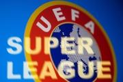 Le logo de l'UEFA, le 19 avril 2021.