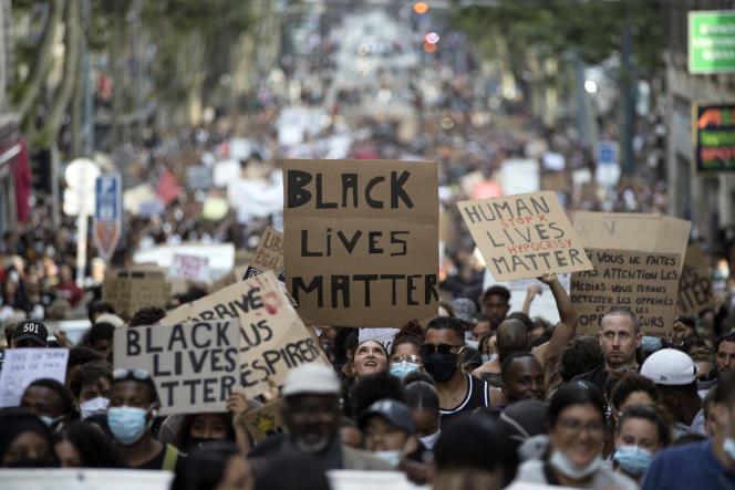 Manifestation contre les discriminations et les violences policières, à Marseille (Bouches-du-Rhône), en juin 2020.