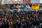 Rassemblement après l'annonce du verdict sur la placeGeorge-Floyd, à Minneapolis (Minnesota), le 20 avril.