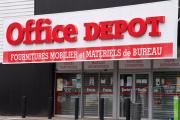 Une enseigne Office Depot à Parthenay, en Nouvelle Aquitaine, le 25 aoüt 2020.