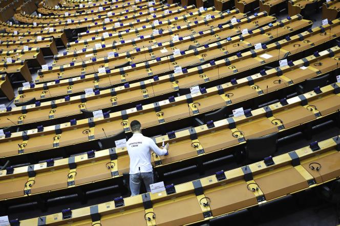 Au Parlement européen à Bruxelles, le 16 septembre 2020.