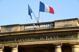 L'entrée du Conseil d'Etat le 18 octobre 2018 à Paris.