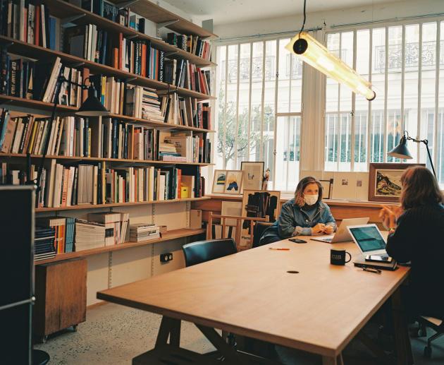 La bibliothèque.