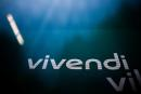 The logo of Vivendi is pictured at the main entrance of the entertainment-to-telecoms conglomerate headquarters in Paris, France, April 22, 2021. REUTERS/Gonzalo Fuentes