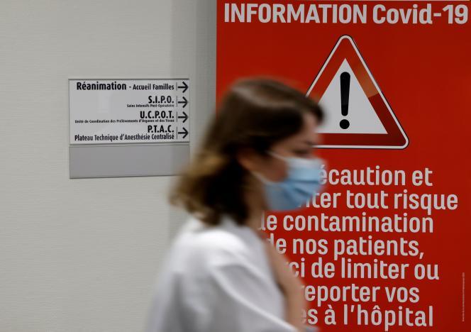 Op de intensive care van het Valenciennes Ziekenhuis (Noord) op 22 april.