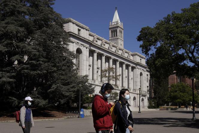 Sur le campus de l'université de Berkeley (Californie).