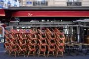 Un restaurant fermé à Paris, le 15 mars.