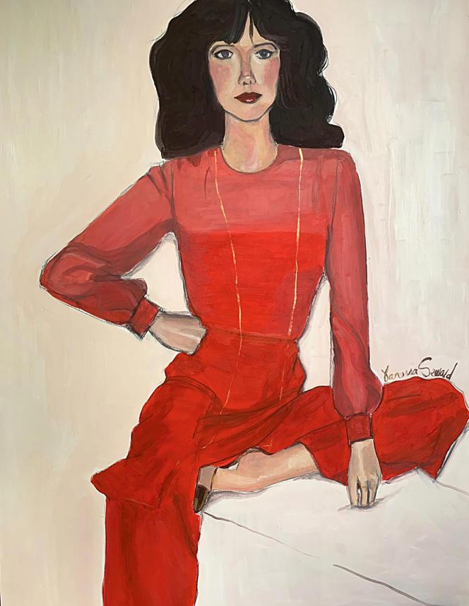 «Portrait de Sylvia Kristel», de Vanessa Seward. L'œuvre sera présentée, du 1er au 22 juin, dans l'exposition «Just think about it», conçue par Sophie Mainier.
