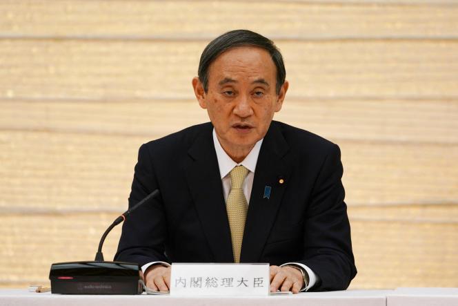Le premier ministre japonais, Yoshihide Suga, le 23 avril, à Tokyo.