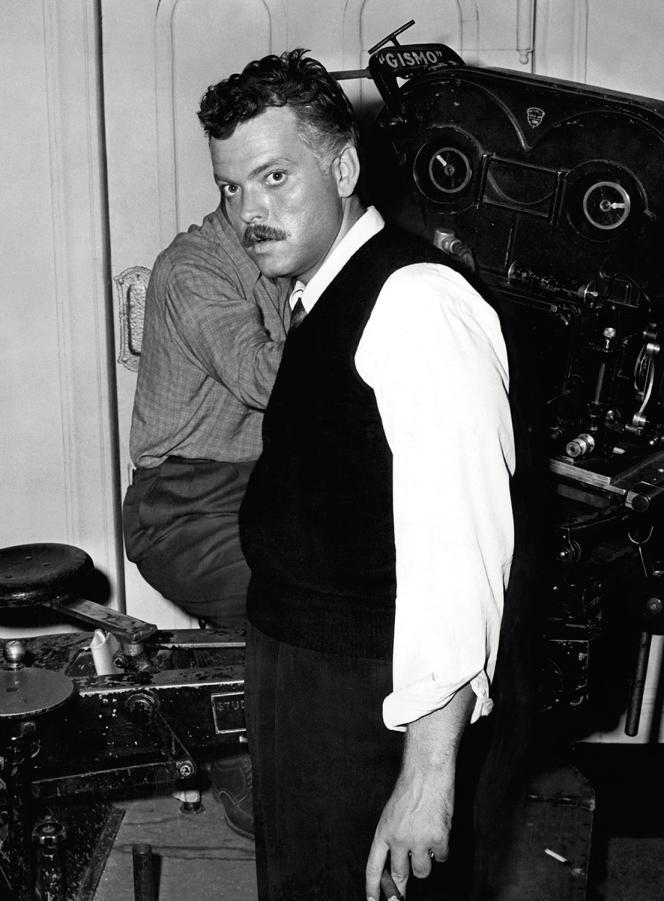 Orson Welles sur le tournage de «La Splendeur des Amberson», en 1942.