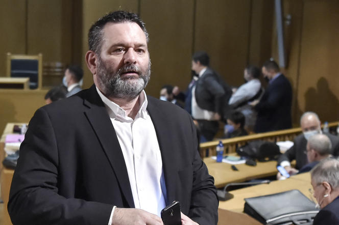 Ioannis Lagos, au tribunal d'Athènes, en octobre2020.