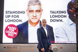 Le maire de Londres Sadiq Khan, le 15avril, à Westminster, Londres.