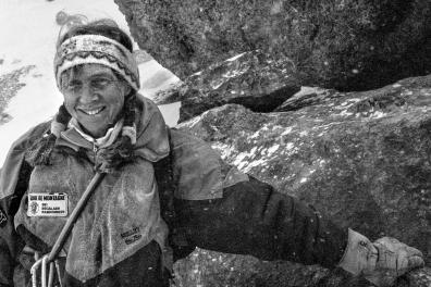 15 juin 1991 Martine ROLLAND, guide de haute montagne à Briançon. Hautes-Alpes. Provence-Alpes-Côte-d'Azur.