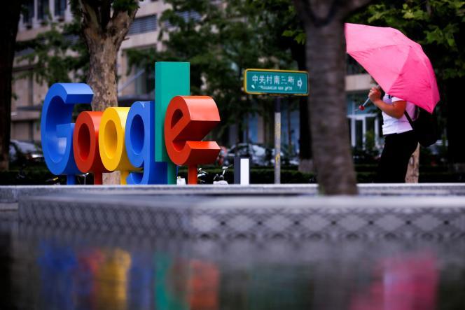 Devant les bureaux de Google à Pékin, en Chine, le 8 août 2018.