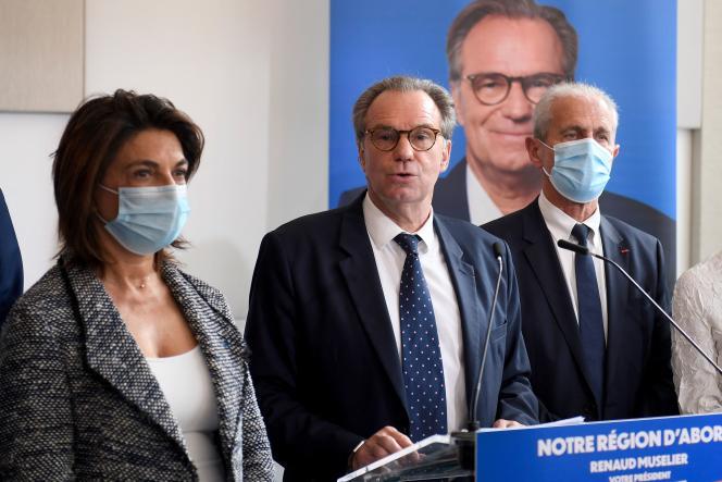 Le président de la région Provence-Alpes-Côte d'Azur, Renaud Muselier, à Marseille, le 28 avril.