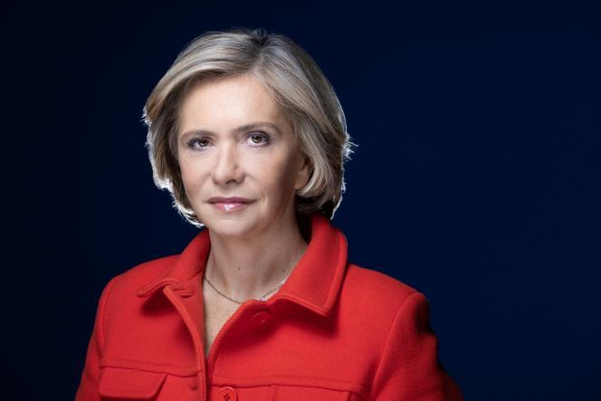 The president of the Ile-de-France region, Valérie Pécresse, on April 8, 2021, in Paris.
