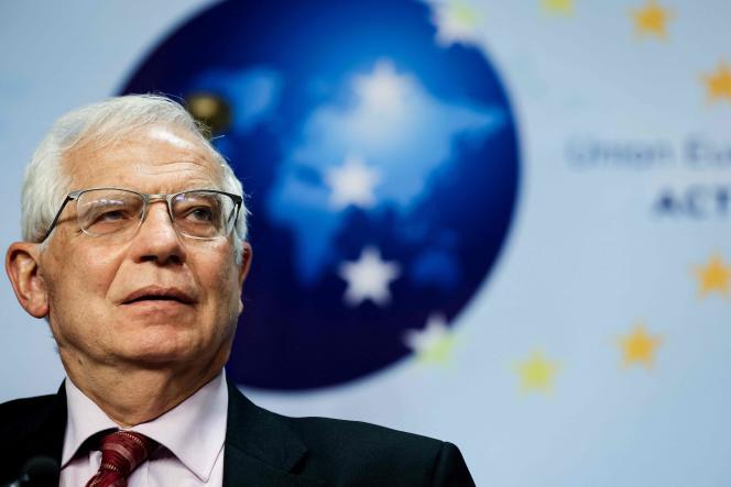 Josep Borrell, le 29 avril 2021, à Bruxelles.