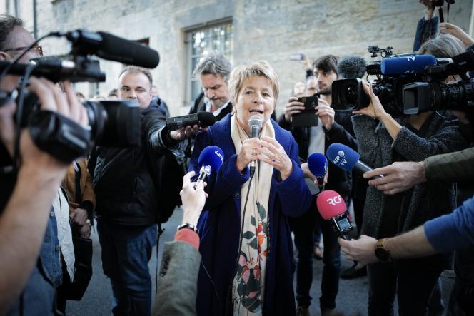 La présidente de la région Bourgogne-Franche-Comté, Marie-Guite Dufay, à Besançon, en octobre 2019.