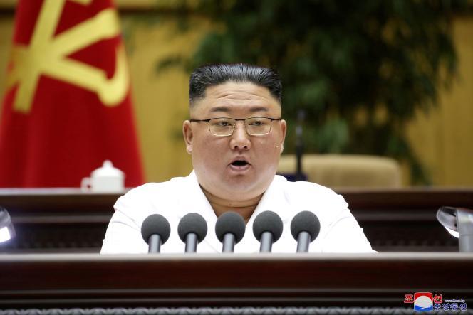 Der nordkoreanische Präsident Kim Jong Un am 8. April in Pjöngjang.