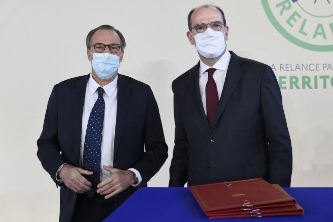 Le président de la région PACA, Renaud Muselier, en compagnie du premier ministre Jean Castex, le 5 janvier 2021 à Toulon.