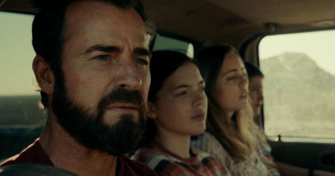 Justin Theroux, Logan Bulch, Melissa George und Gabrielle Bateman, in