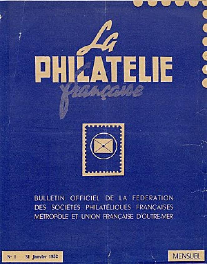 Le premier numéro de« La Philatélie française», en 1952.