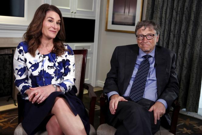 Melinda et Bill Gates, lors d'une interview, en février 2016, à New York.