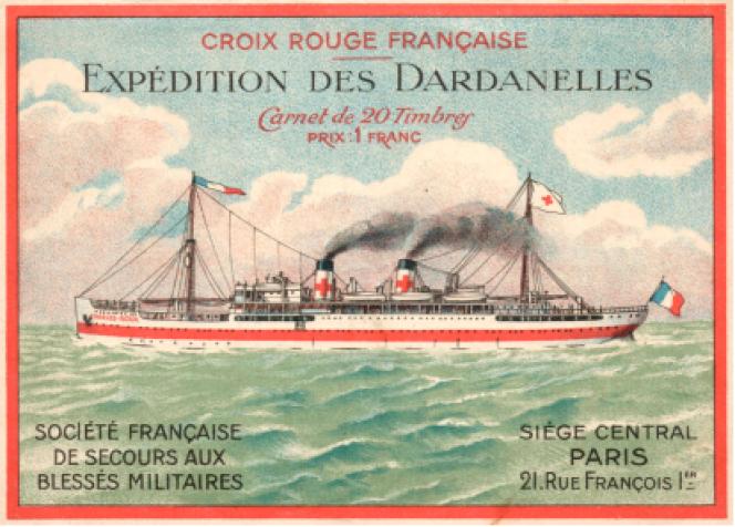 Le « Charles-Roux», couverture de carnet de timbres.