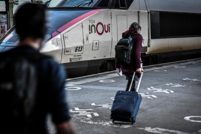 En gare de Lyon, à Paris, en décembre 2020.