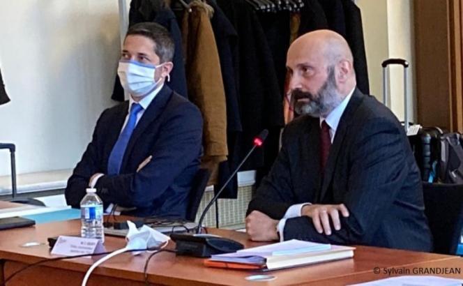 CharlesGiusti préfet administrateur supérieur (à droite) et Mathieu Lefebvre directeur-adjoint de cabinet du ministre des outre-mer au Conseil consultatif du 18 décembre 2020.