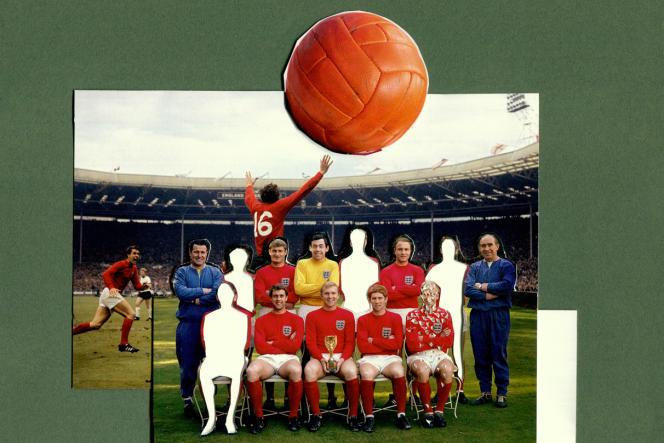 L'équipe d'Angleterre championne du monde en1966. Quatre anciens joueurs sont morts de démence sénile.