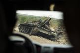 Un tank au sud d'Humera, dans la région du Tigré en Ethiopie, le 1er mai.
