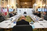 Les chefs de diplomatie du G7 réunis à Londres, mardi 4mai.