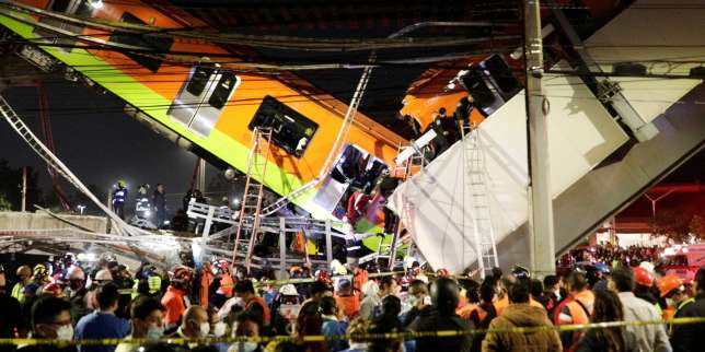 Mexico: au moins 23morts dans l'effondrement d'un pont au passage d'une rame de métro