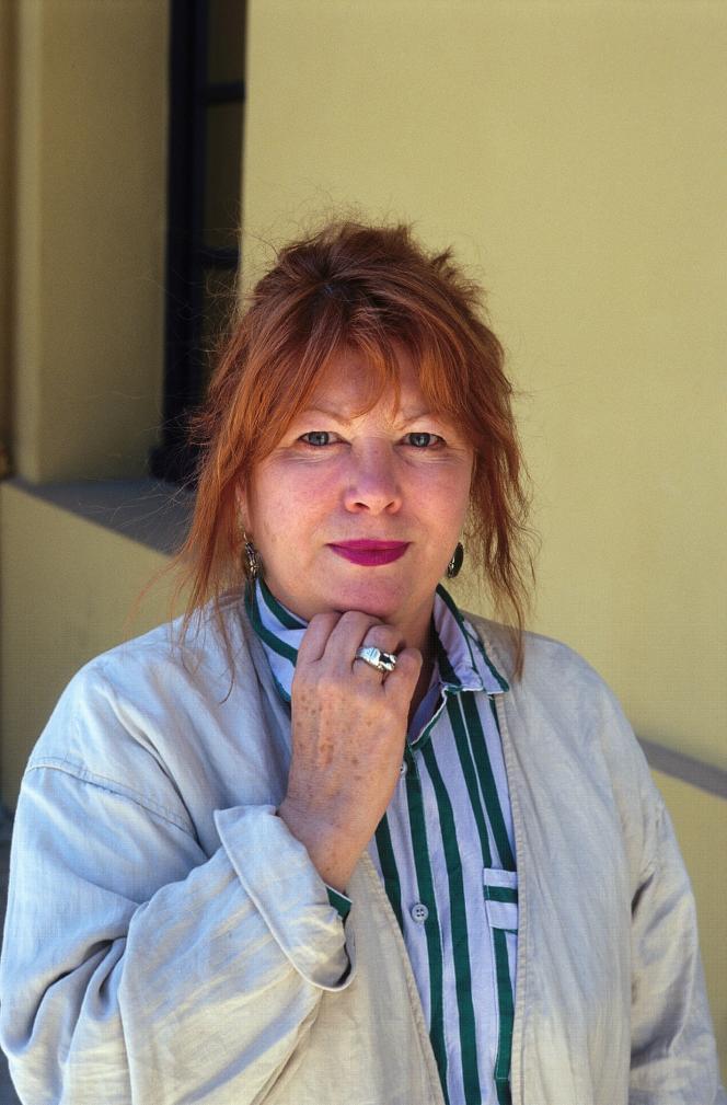 L'écrivaine et actrice Evane Hanska, en 1998.