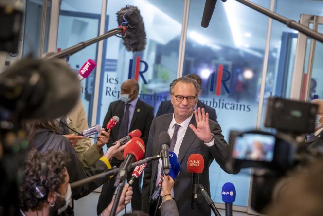 Le président sortant de la région Provence-Alpes-Côte d'Azur Renaud Muselier, au siège du parti Les Républicains, à Paris, le 4 mai.