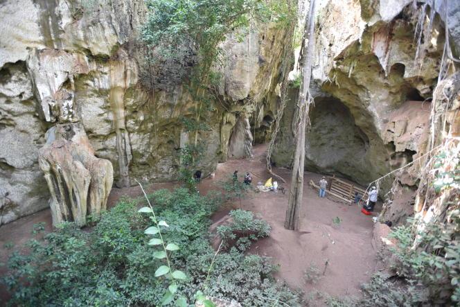 Vue générale du site dePanga ya Saidi (Kenya), où la plus ancienne sépulture africaine (78 000 ans) a été découverte.