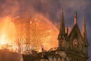 Notre-Dame de Paris en proie aux flammes, le 15 avril 2019.