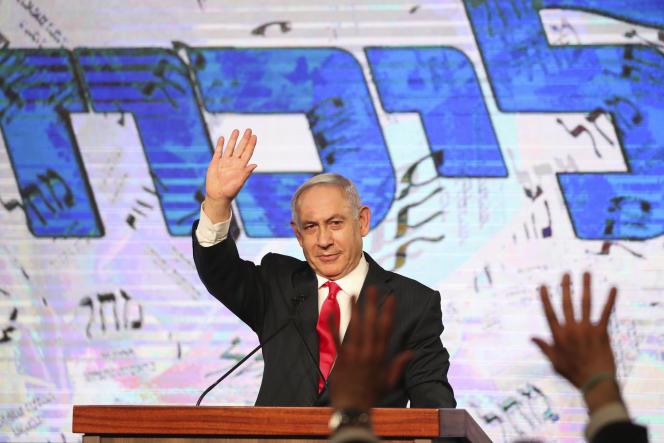 Le premier ministre israélien Benyamin Nétanyahou,à Jérusalem, mercredi 24 mars 2021.
