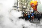 La tête de la manifestation à Paris, le 1er mai.