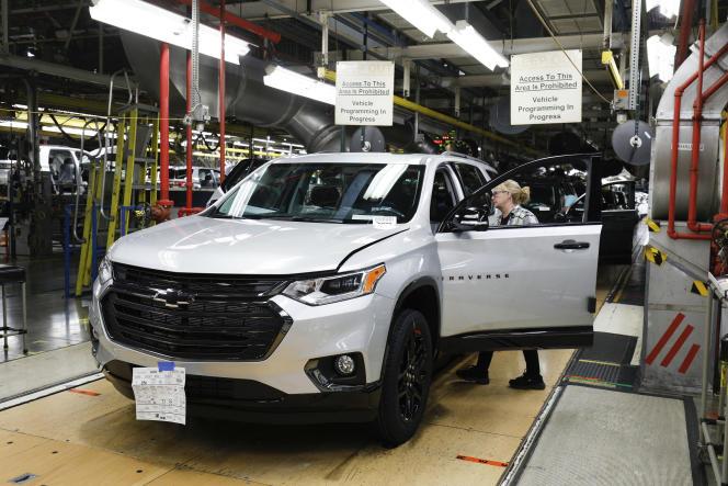 A l'usine General Motors de Lansing (Michigan), en février 2020.