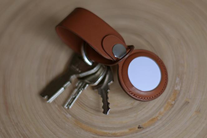 La destination naturelle de l'AirTag : le porte-clefs.