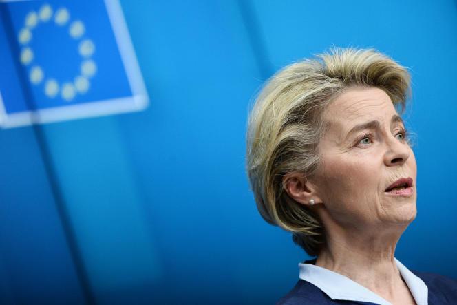 La présidente de la Commission européenne, Ursula von der Leyen, le 26 férvrier à Bruxelles.