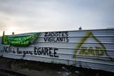 Sur le site de la ZAD, àGonesse (Val-d'Oise), le 10 février 2021.