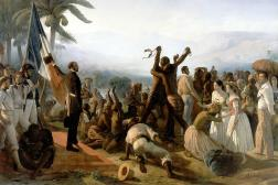«L'Abolition de l'esclavage dans les colonies françaises»de François-Auguste Biard, 1849.