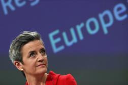 La commissaire européenne à la concurrence, Margrethe Vestager, à Bruxelles, le 5 mai 2021.