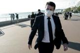 Le maire de Nice, Christian Estrosi, sur la promenade des Anglais, le 18 janvier 2021.