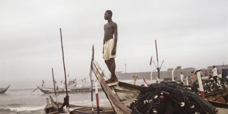 Ghana, Accra, 2009 Fishing harbor,