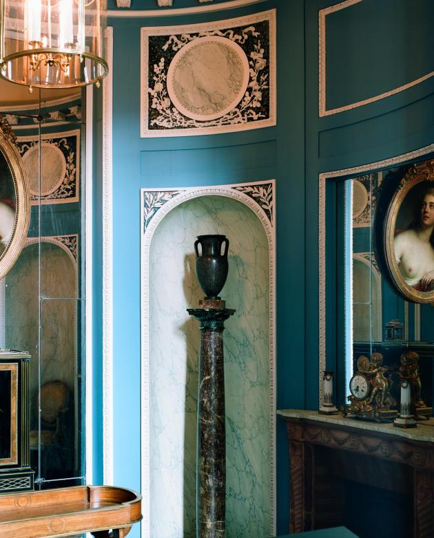Reconstitution du boudoir de l'hôtel de Breteuil.