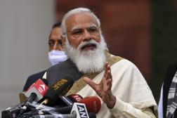 Le premier ministre indien, Narendra Modi, à New Delhi, le 29 janvier 2021.